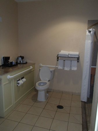 Holiday Inn Express Hotel & Suites Galveston West - Seawall: Large handicapp bathroom