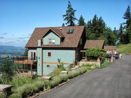 Chehalem Ridge Bed and Breakfast: View from drive way