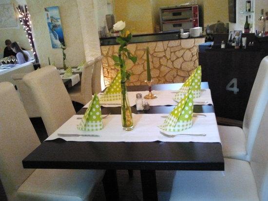 der sch n gedeckte tisch bild von kelari f ssen tripadvisor. Black Bedroom Furniture Sets. Home Design Ideas