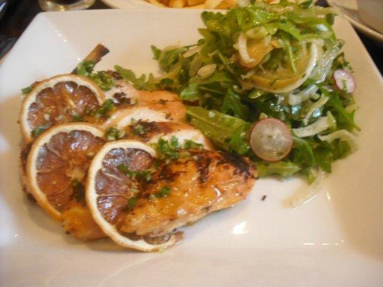 Green Park Brasserie: Marinated lemon,garlic chicken