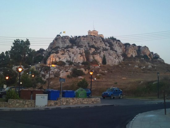 Melini Apartments: Church on hill nearby