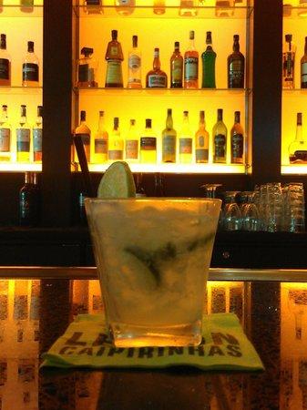 Brazzaz: A classic caipirinha at the bar.