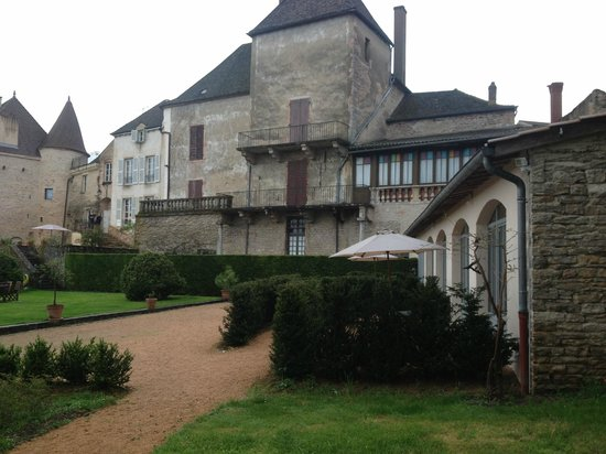 La Tour du Tresorier: View of main house with L'Atelier in foreground
