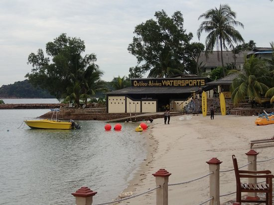 Batam View Beach Resort: Coast guard station at the beach
