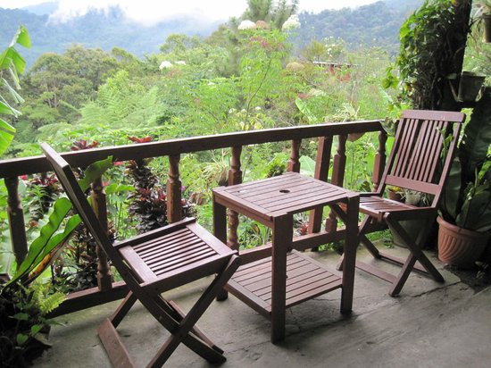 D'Villa Rina Ria Lodge: where we enjoyed a cup of hot coffee
