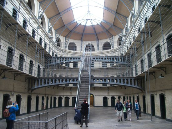 Kilmainham Gaol: The jail interior will seem familiar. It has been used in several movies.