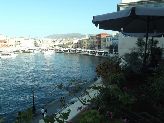 Ifigenia Rooms and Studios: Daytime vista of the Old Town waterfront from our roof terrace