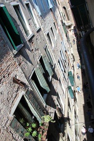 Locanda ai Bareteri: View from our room in to Marzaria del Capitello.