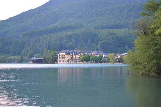 Hotel Seerose from one side of Lake Fuschl.