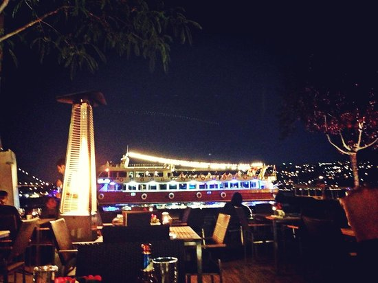 Sumahan on the Water: Night view from the restaurant downstair