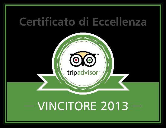 Hotel Dante: Certificato di Eccellenza