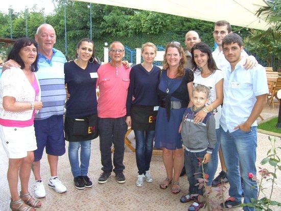 Bora Bora Hotel: us with some of the staff