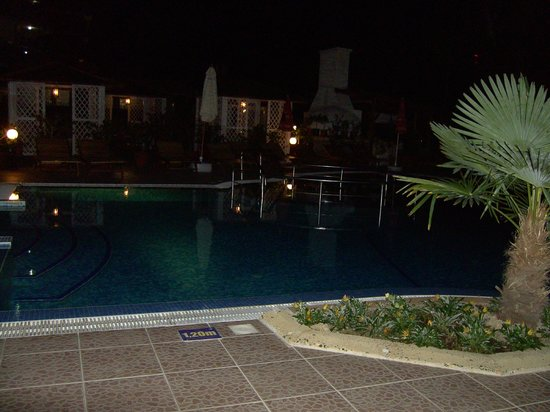 Bora Bora Hotel: pool by night