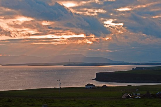 Burnside Farm : last rays over Scapa Flow