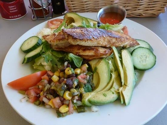 Mountain Home Cafe Inc.: Blackened flounder southwest salad, Yum!