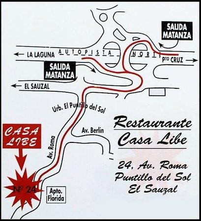 Casa Libe: Mapa / Map
