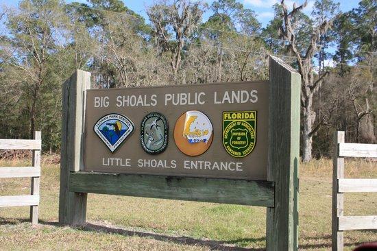 Big Shoals State Park - Little Shoals Entrance