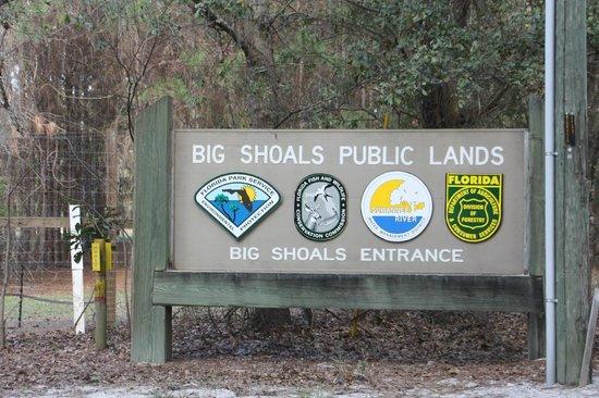 Big Shoals State Park - Big Shoals Entrance