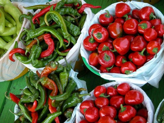 Jean-Talon Market: Hot pepers from the Birri Brothers Ruby Roy photo