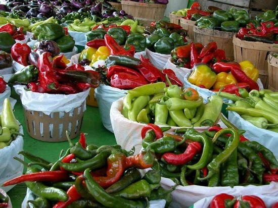 Jean-Talon Market: Pepper and more peppers Ruby Roy photo
