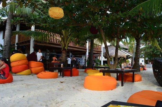 Ocean Vida Beach & Dive Resort: Beach bar at sunset