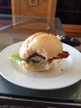 Lucky Dawg Fishing Charters: Panko-crusted fish sandwiches for lunch - YUM!