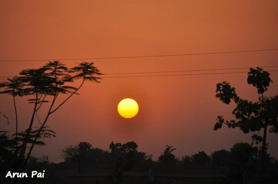 Sunset witnessed from our resort - Royal Tiger Resort