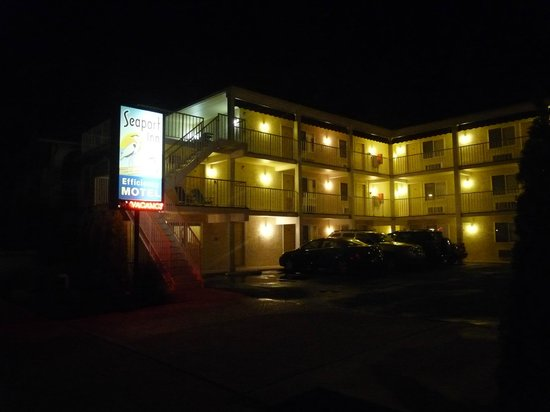 Seaport Inn Motel : Outside view at night