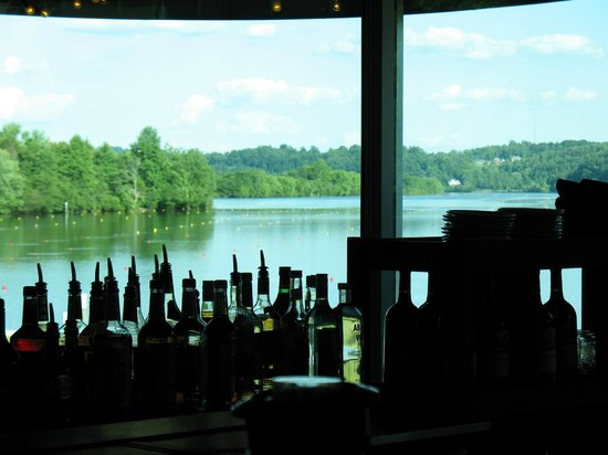 Riverside Grille: View from seat at the bar