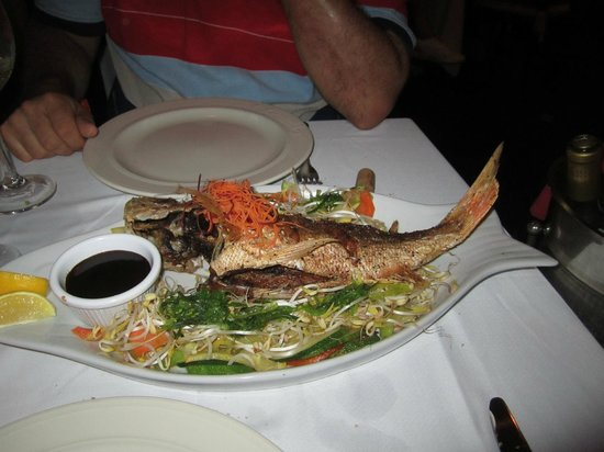Restaurant Carambola Seafood & International Cusine: $40 whole snapper