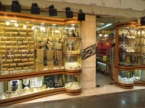 Gold and Spice Souk: one shop in the gold souk, Dubai