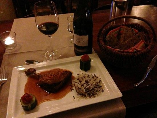 Hotel Auberge Edelweiss : Meat entree
