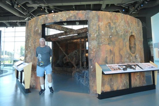 Newport News, VA: A facsimile of the 150-year-old gun turret which was raised from ocean floor