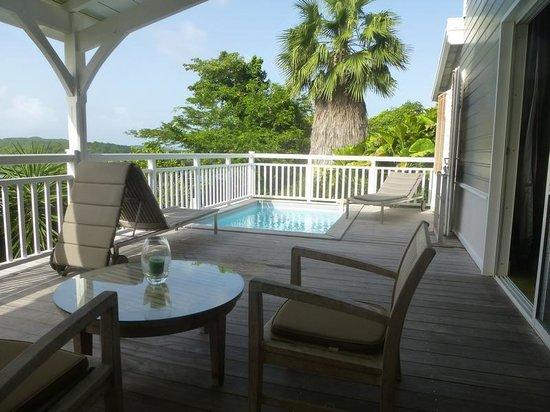 Hotel Plein Soleil: La terrasse - suite duplex
