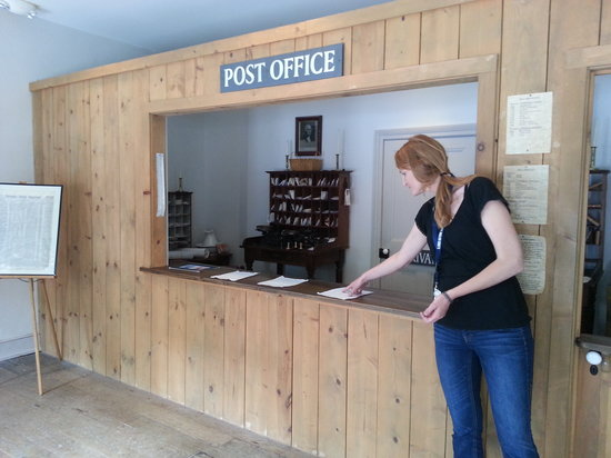 Lincoln-Herndon Law Offices State Historic Site: Our Tour Guide Shandi Shows the Post Office