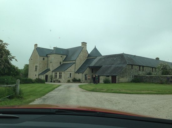 Driving up to Manoir de Beaucron  - Beautiful Location
