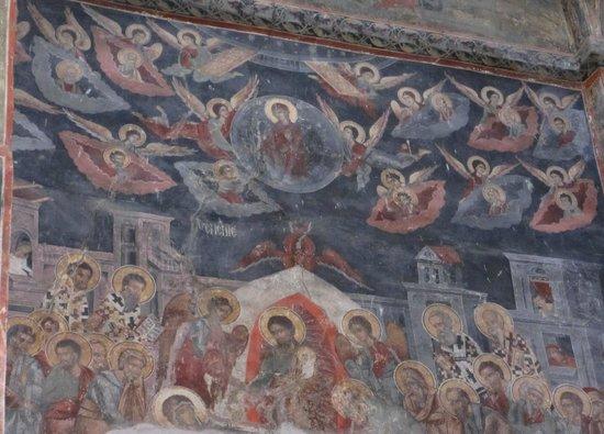 Novo Hopovo Monastery: Fresco in St. Nicholas Church