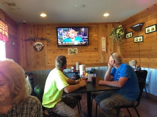 Backyard BBQ: You can catch the news while dining...