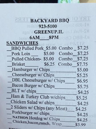 backyard bbq order pad menu