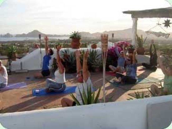 Casa Contenta Bed and Breakfast: Terraceyoga