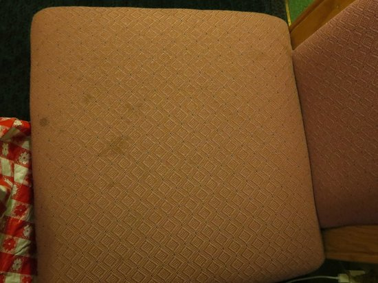 Quality Inn East: Second stained chair