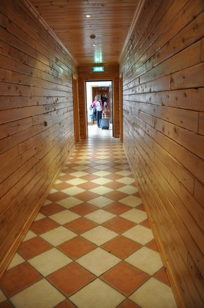 Hotel Ranga: beautiful tiled passage