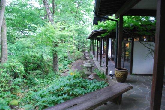 Kunugiya : 清清しい自然と調和した建物