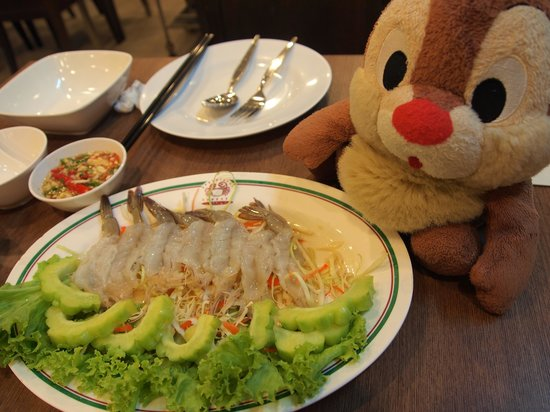 Somboon Seafood : Raw shrimp