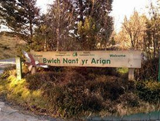Bwlch Nant yr Arian Forest Visitor Centre: Welcome sign