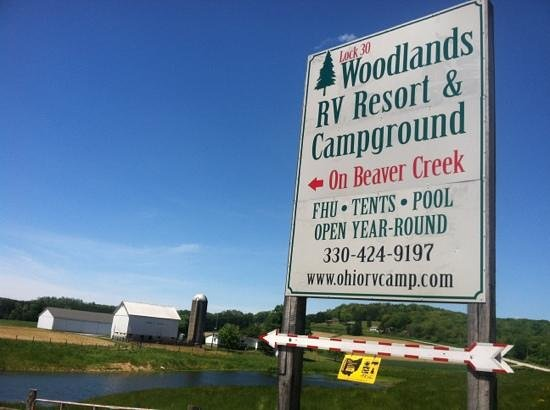 Lock 30 Woodlands RV Campground Resort: turn off from the road into Lock 30