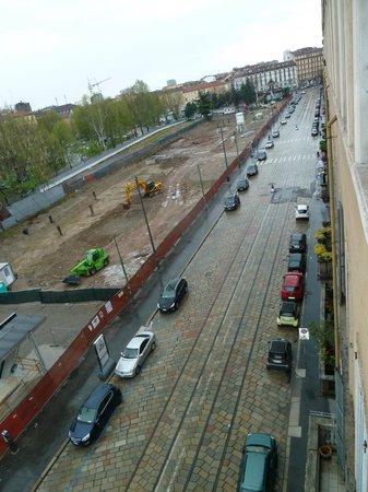Porta Garibaldi B&B: View right, looks construction about to start