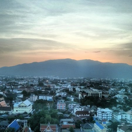 Le Meridien Chiang Mai: View to Doi Suthep (Mountain) from Level 17