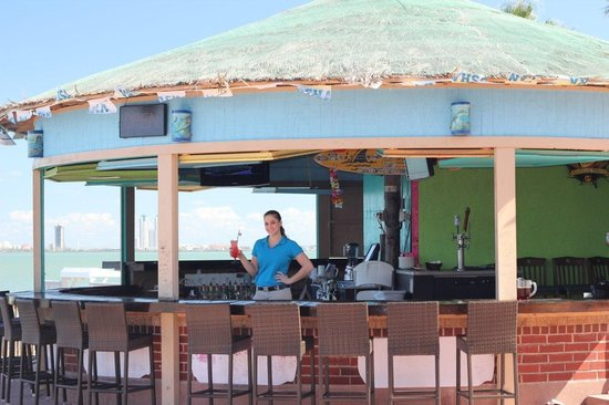 Dirty Al's at Pelican Station: Our patio bar waiting for you