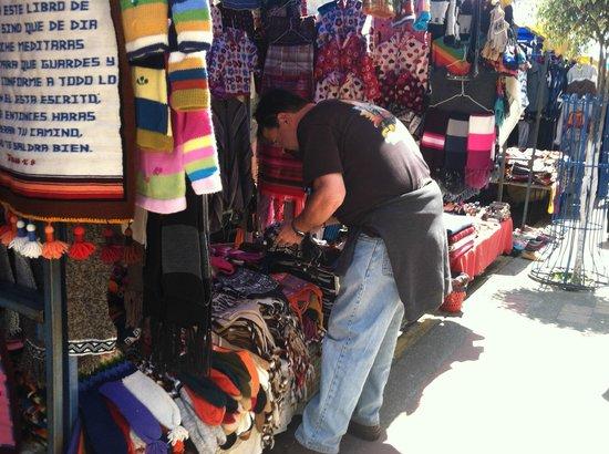 La Posada del Quinde : Brian at the Market